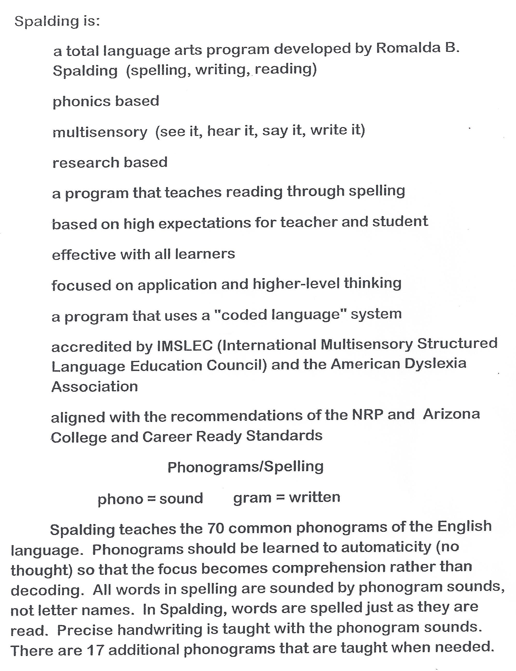 Spalding Handwriting Kidz Activities